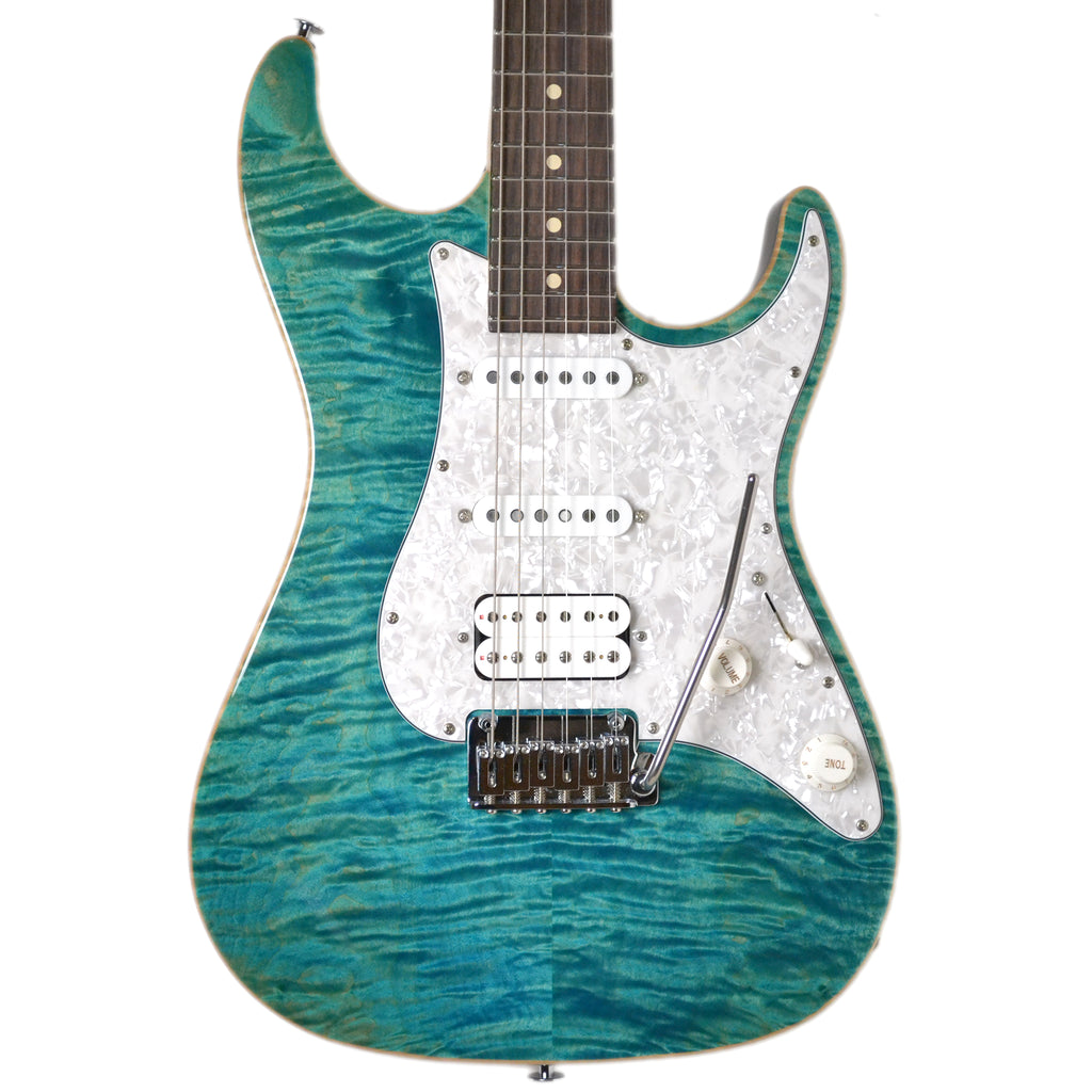 Suhr Standard Pro HSS Gotoh 510 Bahama Blue Electric Guitar