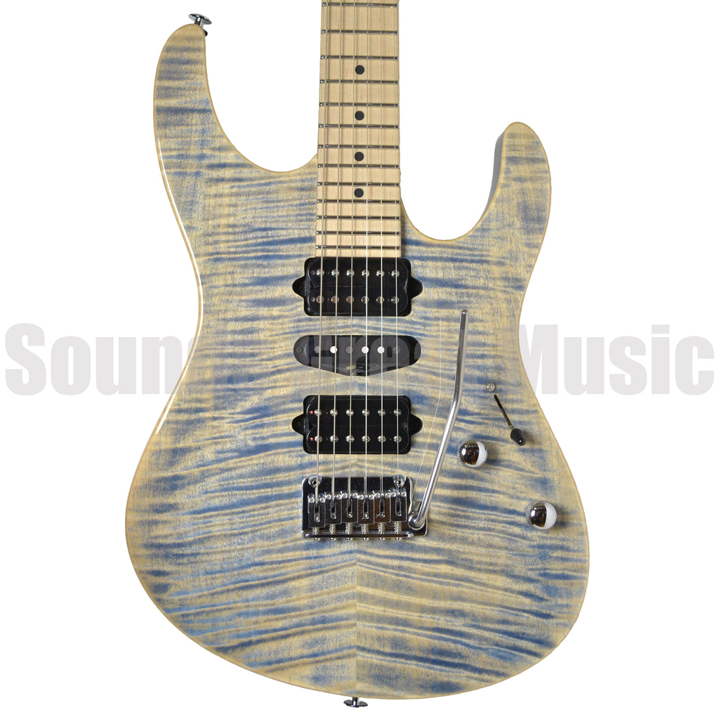 Suhr Modern Pro HSH Gotoh 510 Trans Blue Denim Slate Electric Guitar - Electric Guitar - Suhr - Sounds Great Music