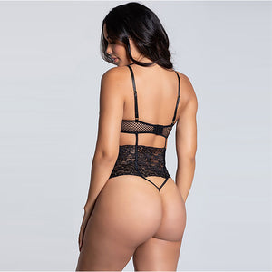 Sexy Seduction Open Back Conjoined Mesh Sling Sexy Underwear