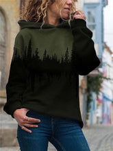 Load image into Gallery viewer, Treetop Silhouette Reflection Print Hoodie