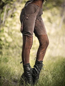 Vintage Pockets Women Legging Pants