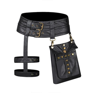 Women's Punk Motorcycle Vintage Waist Bag