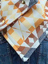 Load image into Gallery viewer, Vintage Tribal Print Buttoned Down Cowl Scarves