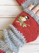 Load image into Gallery viewer, Fingerless Color Block Knitted Hand Warmer Gloves