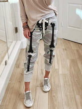 Load image into Gallery viewer, Women's Halloween Skull Print Casual Pants