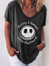 Load image into Gallery viewer, Women's Mommy & Daddys Little Nightmare Print Tshirt