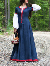 Load image into Gallery viewer, Women Medieval Long Dress Retro Dress