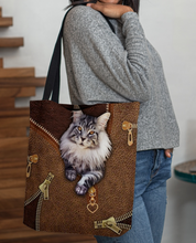 Load image into Gallery viewer, Women's cat leather print series shoulder bag