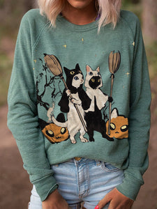 Ladies bat print sweatshirt