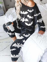Load image into Gallery viewer, Women's Halloween Bat Print Pajama