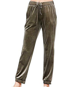 Women'S Retro Velvet Pants