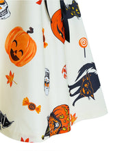 Load image into Gallery viewer, Women'S  V-Neck Pumpkin Print Dress