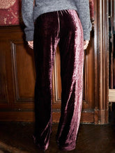 Load image into Gallery viewer, Women'S Retro Velvet Red Pocket Pants