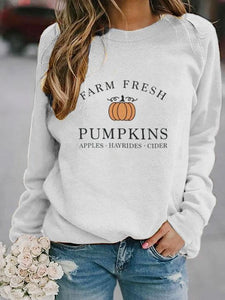 "Women's ""Farm Fresh Pumpkins"" Fall Shirt Sweatshirt"