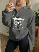 Load image into Gallery viewer, All Hallows Eve Pullover Zip Sweatshirt