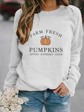 "Load image into Gallery viewer, Women's ""Farm Fresh Pumpkins"" Fall Shirt Sweatshirt"