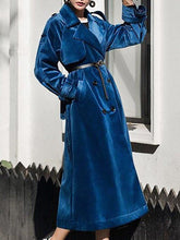 Load image into Gallery viewer, Women'S Retro Velvet Long Sleeve Coat