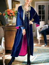 Load image into Gallery viewer, Women'S Retro Velvet Contrast Long-Sleeved Coat