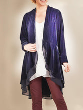 Load image into Gallery viewer, Women'S Retro Velvet Stitching Mesh Long-Sleeved Coat