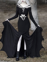 Load image into Gallery viewer, Women'S Halloween Retro Hollow Long Sleeve Dress