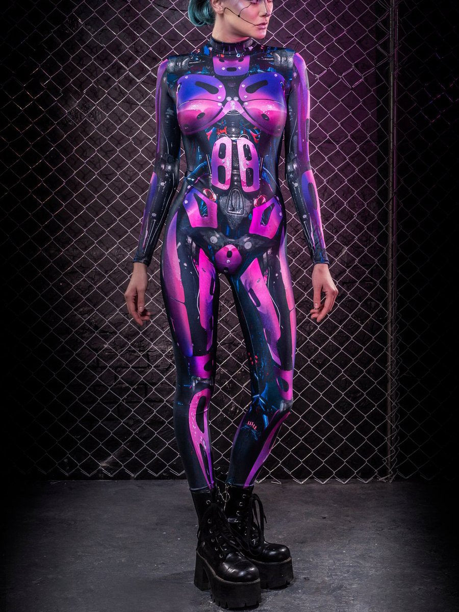Halloween Magenta Mechanical Jumpsuit