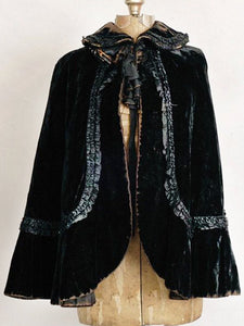 Women'S Retro Velvet Stitching Shawl Coat
