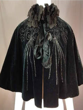 Load image into Gallery viewer, Women'S Retro Velvet Print Lace Stand Collar Shawl Coat