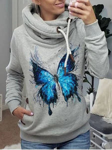 Women Casual  Printed Top Blouse Sweatshirt