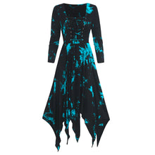 Load image into Gallery viewer, Women's Print Long Sleeve lace up irregular dress