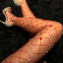 Load image into Gallery viewer, Sexy hot drill big mesh mesh fishnet stockings