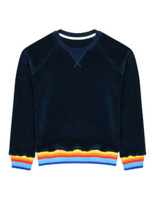 Women's Velvet Rainbow Sun Sunburst Sweatshirt