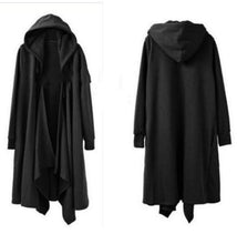 Load image into Gallery viewer, Women's solid hooded long sleeve Cape loose coat
