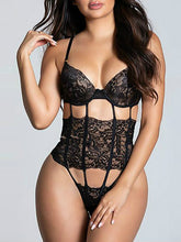 Load image into Gallery viewer, Sexy Seduction Open Back Conjoined Mesh Sling Sexy Underwear