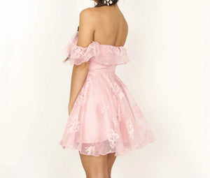 Women's fashion off the shoulder ruffle evening dress