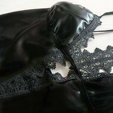 Load image into Gallery viewer, Women's sexy patent leather role play BraSets