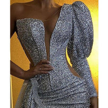 Load image into Gallery viewer, Shania - Asymetric Drag Queen Glitter Dress-Queenofdrag.com