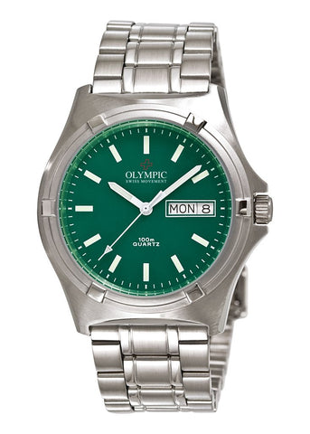 Olympic Gents Green 12 Index Dial  100M 29965S