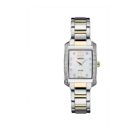 Seiko Ladies Solar two tone Watch - SUP403