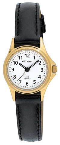 OLYMPIC LADIES LEATHER - GOLD - SMALL 72011