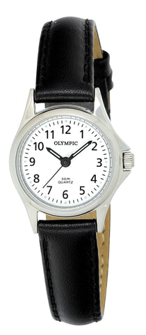 OLYMPIC LADIES LEATHER - STEEL - SMALL 78011
