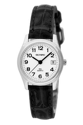 OLYMPIC LADIES LEATHER - steel- black 78033