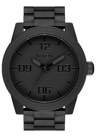Nixon Corporal Stainless Steel Matte Black Black Watch - A346 3256-00