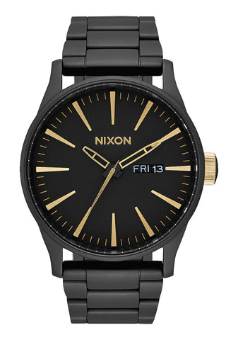 Nixon Sentry Stainless Steel Black Gold Watch - A356 1041-00