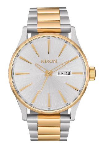 Nixon Sentry Stainless Steel Silver/Gold Watch - A356-1921-00