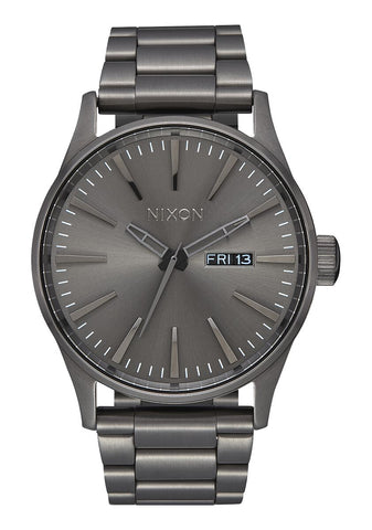 Nixon Sentry Stainless Steel Gunmetal Watch - A356 632-00