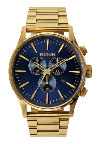 Nixon Sentry Chrono Gold Blue Sunray - A386 1922-00