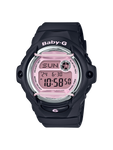 Baby-G Women's Casio Digital Black with Pink Dial Watch - BG169M