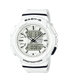 Baby-G Ladies Casio White Analogue/Digital Running Series Watch - BGA-240-7A