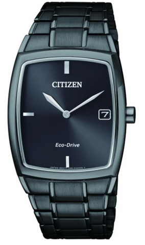 Citizen Mens Black Stainless Steel Eco Drive Watch - AU1077-83H