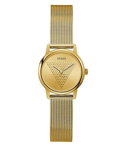 Guess gold tone case gold tone stainless steel mesh GW0106L2
